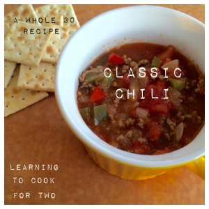 Learning To Cook For Two, Classic Chili
